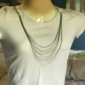 Old Navy silver tier chain necklace